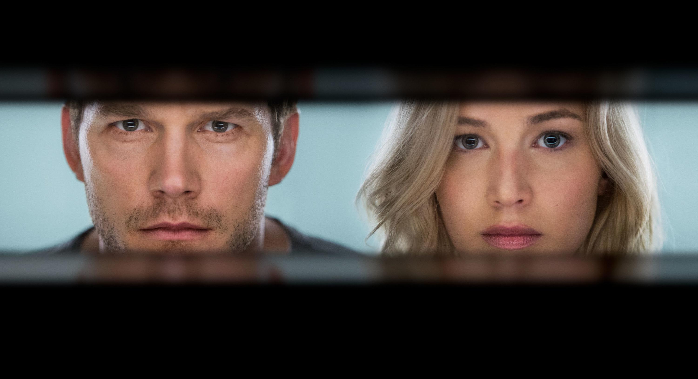 Chris Pratt and Jennifer Lawrence's faces