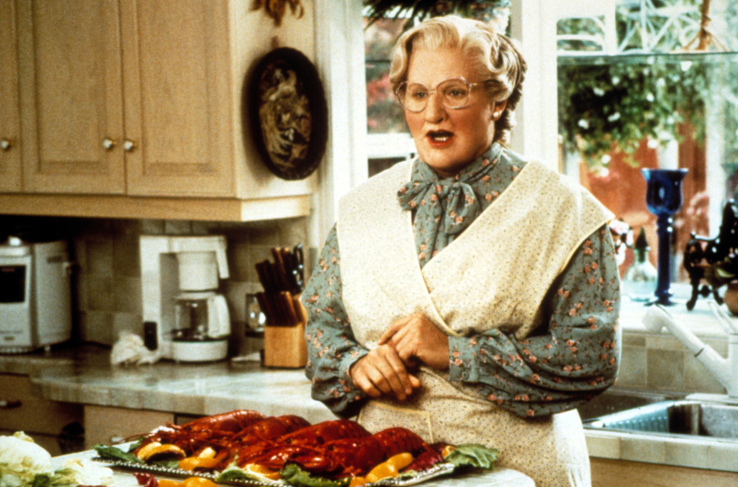Mrs. Doubtfire dressed as a woman