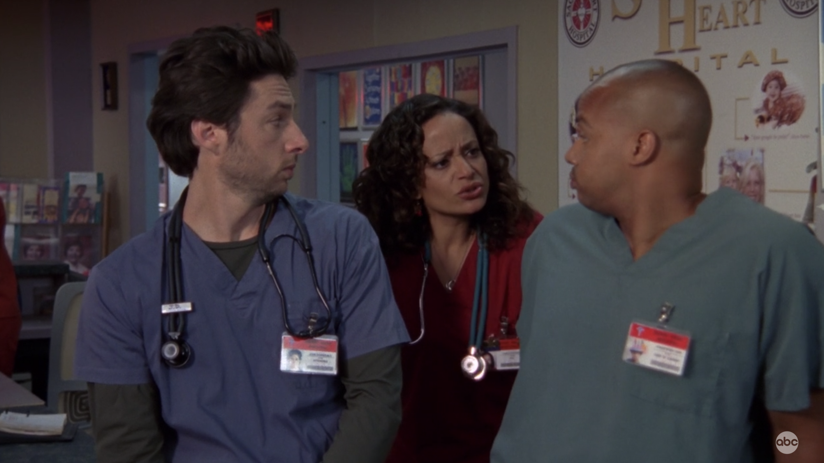 Carla in between Turk and JD