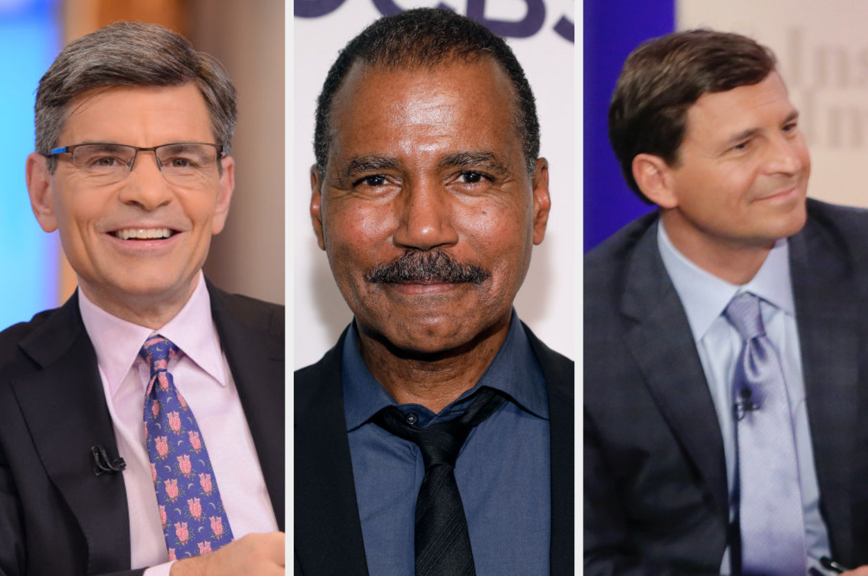 George Stephanopoulos, Bill Whitaker, and David Faber