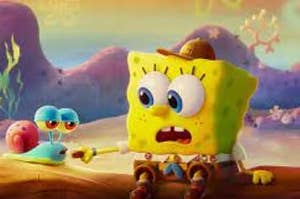 Young Spongebob and Gary