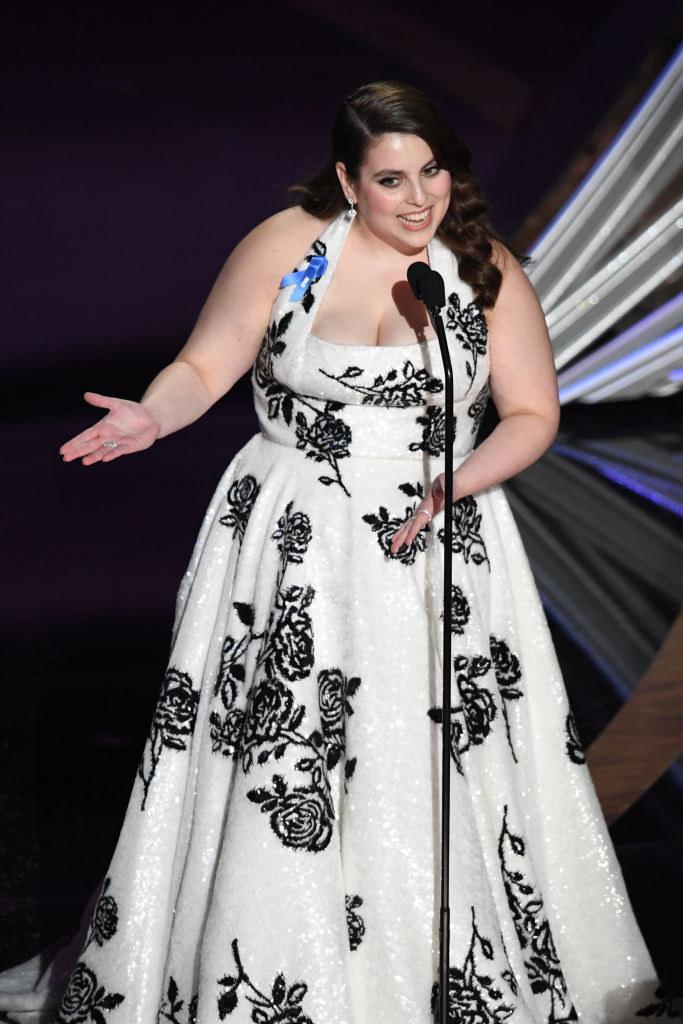 Beanie Feldstein speaks onstage during the 92nd Annual Academy Awards