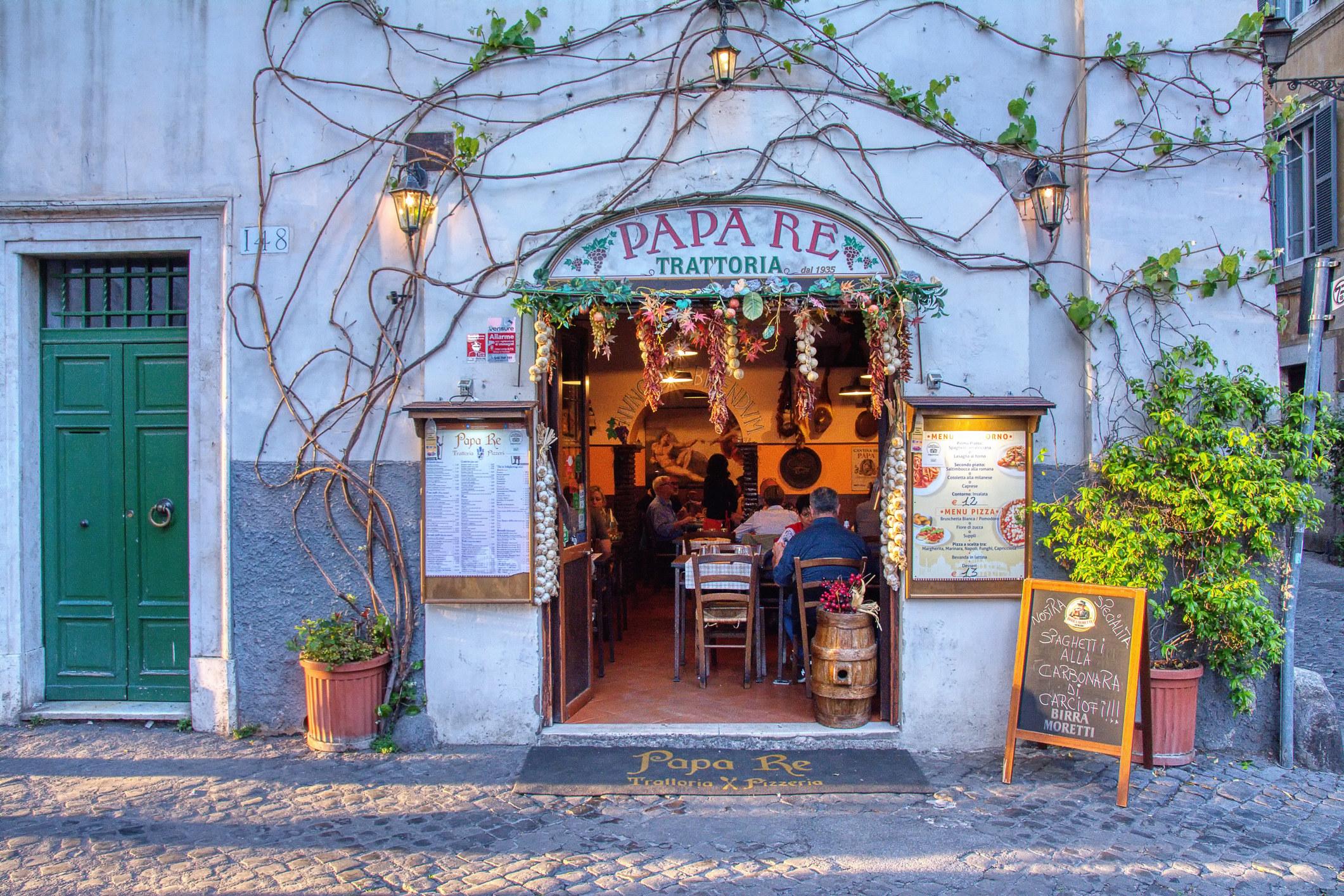 A cute Italian restaurant.