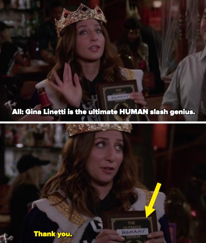 "Everyone saying ""Gina Linetti is the ultimate HUMAN slash genius."""