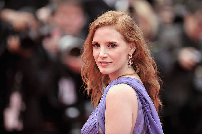 """Jessica Chastain attends the """"Foxcatcher"""" premiere"""