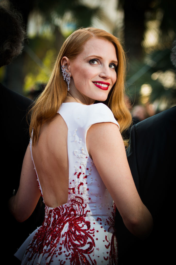 Jessica Chastain attends the Closing Ceremony of the 70th annual Cannes Film Festival