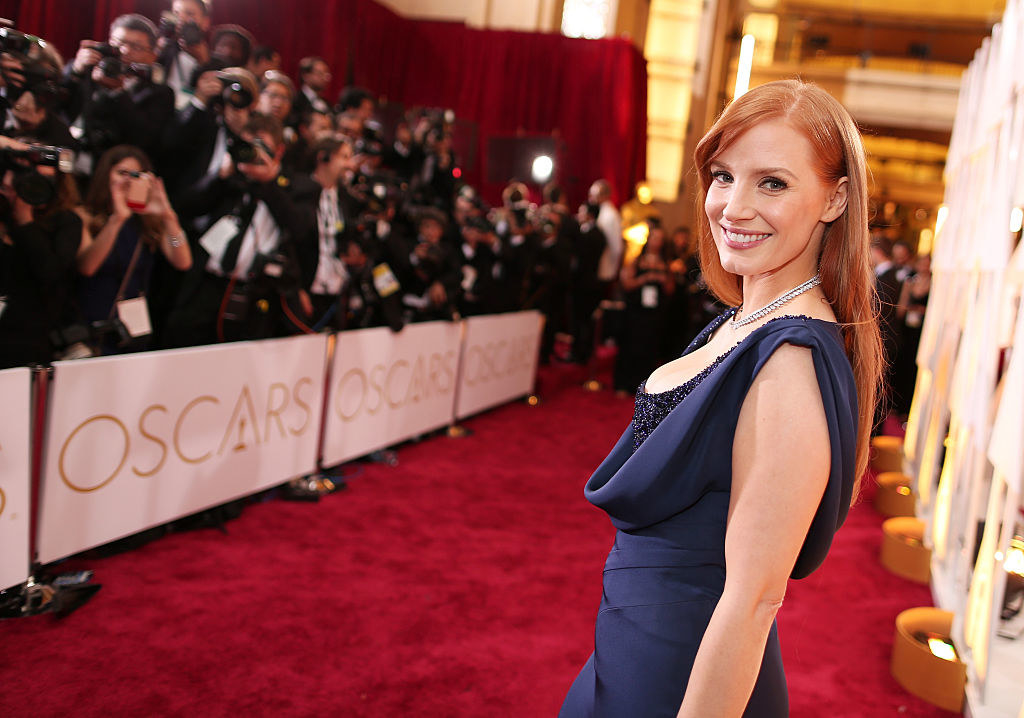 Jessica Chastain attends the 87th Annual Academy Awards