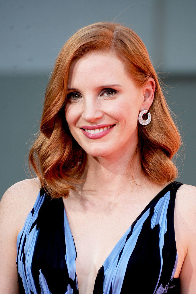 Jessica Chastain poses for a photo during her Hand and Footprint Ceremony