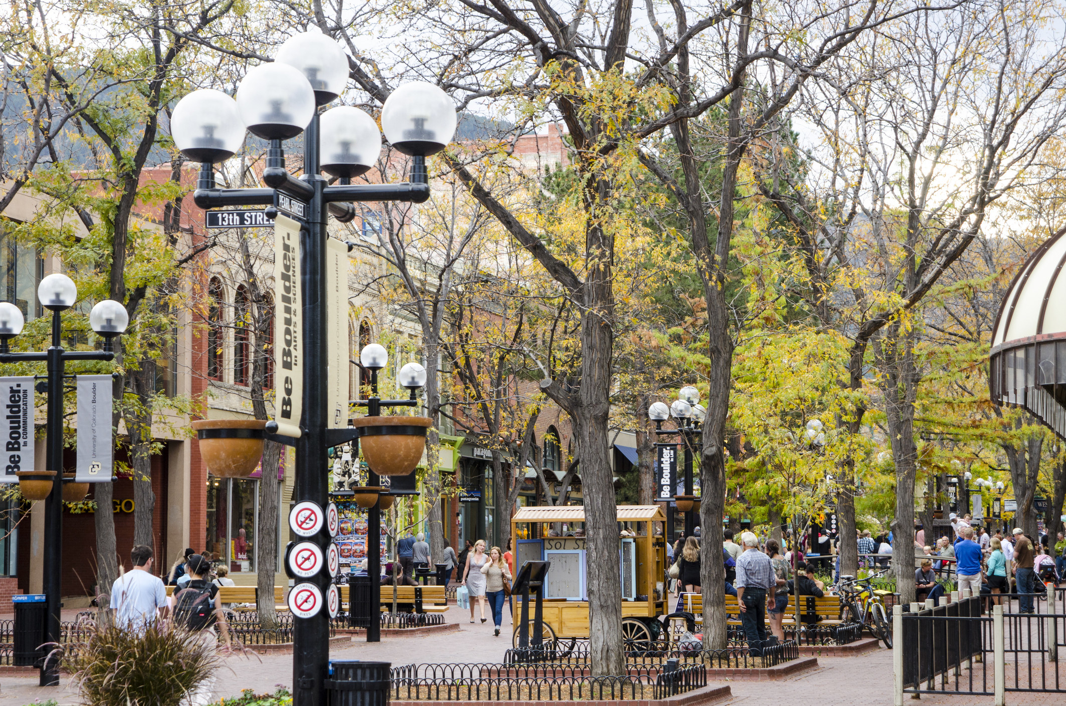 Downtown Boulder, Colorado.