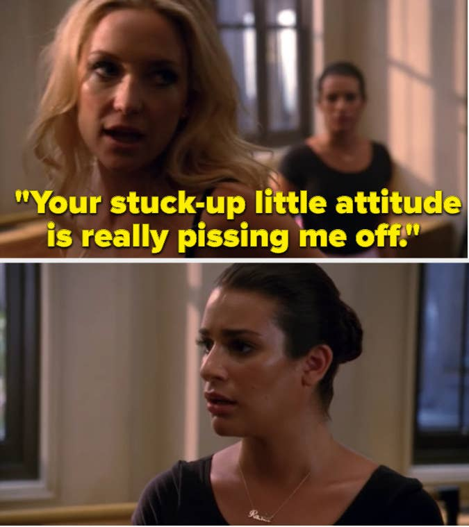 """Rachel's professor being rude to her on """"Glee"""""""