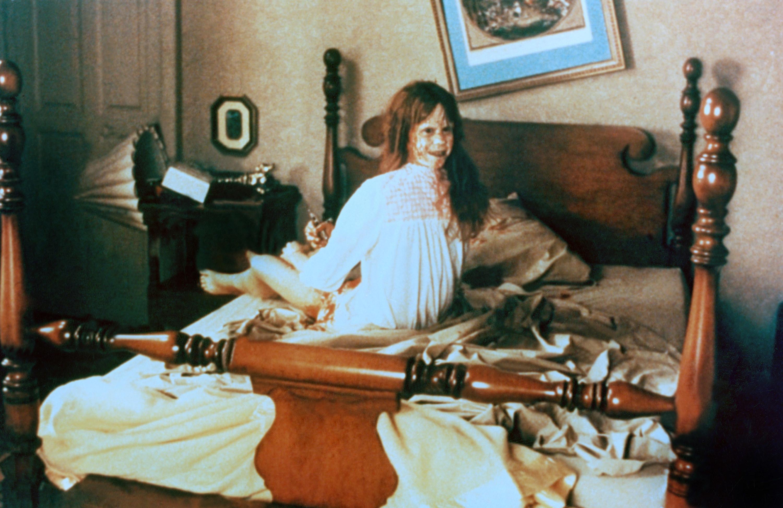 Regan's head turning in her bedroom
