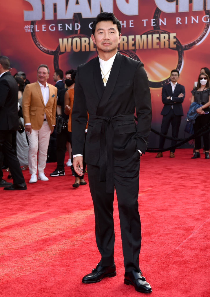Simu Liu on the red carpet at the film premiere