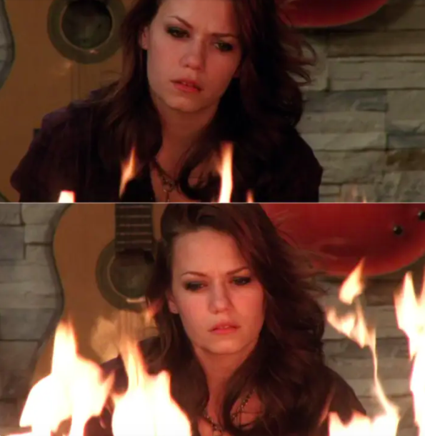 Haley nearly sets the house on fire