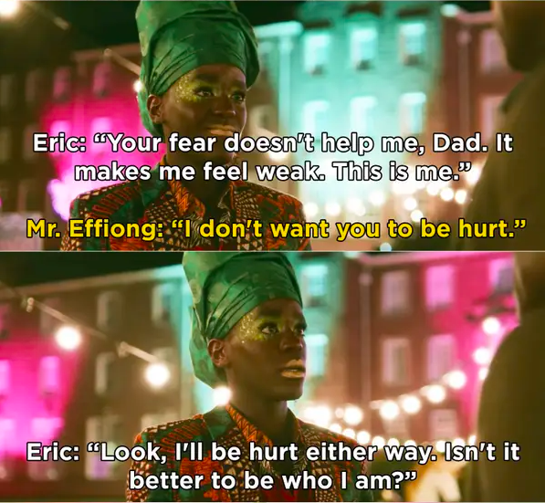 """Eric: """"I'll be hurt either way, isn't it better to be who I am?"""""""