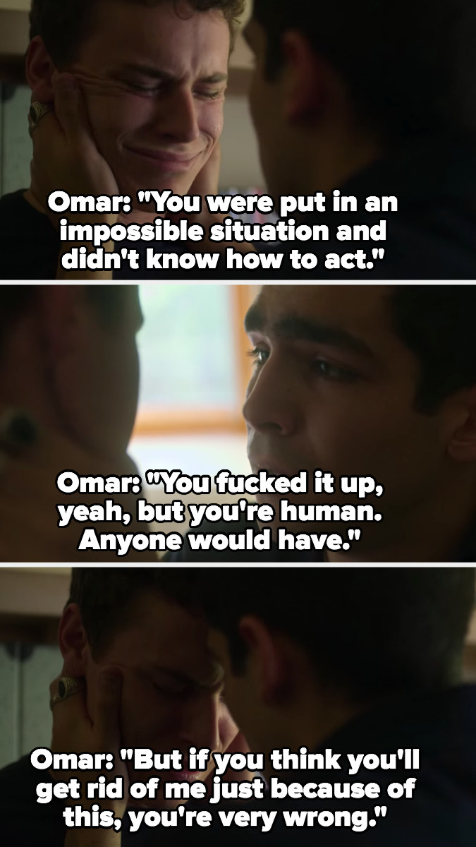 Omar tells Ander he was put in an impossible situation and that he's not going to get rid of him this easily