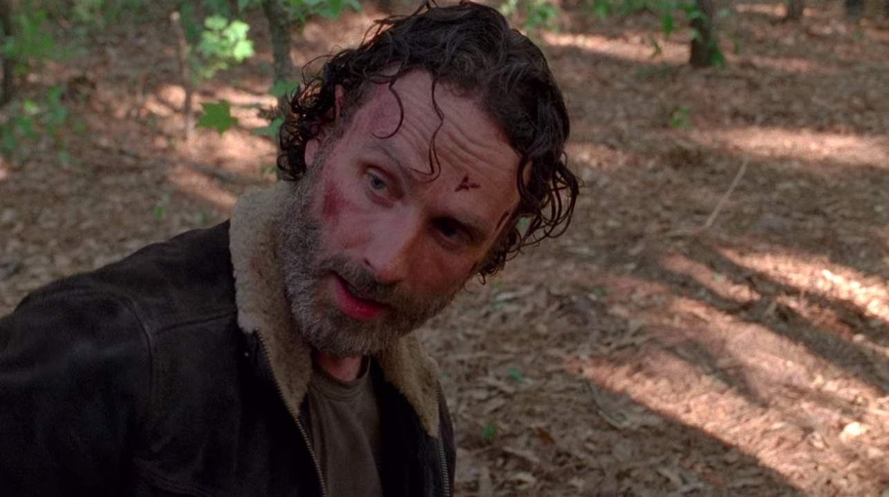 """Rick with a beard in """"The Walking Dead"""""""