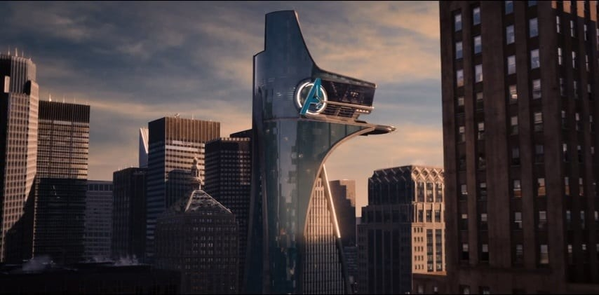 """Avengers """"A"""" on the tower"""