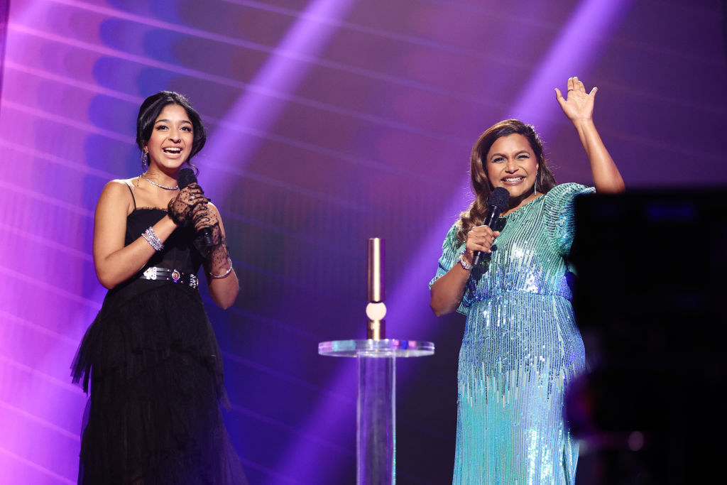Maitreyi and Mindy onstage