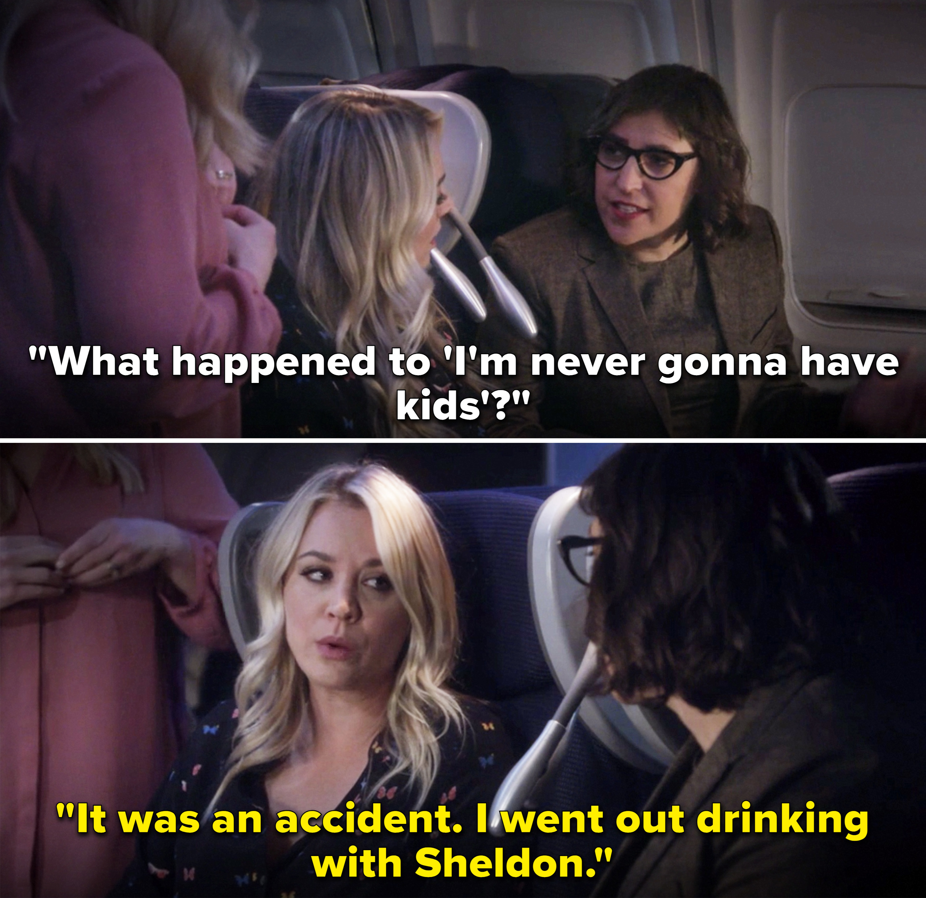 """Amy asking Penny, """"What happened to 'I'm never gonna have kids'?"""""""