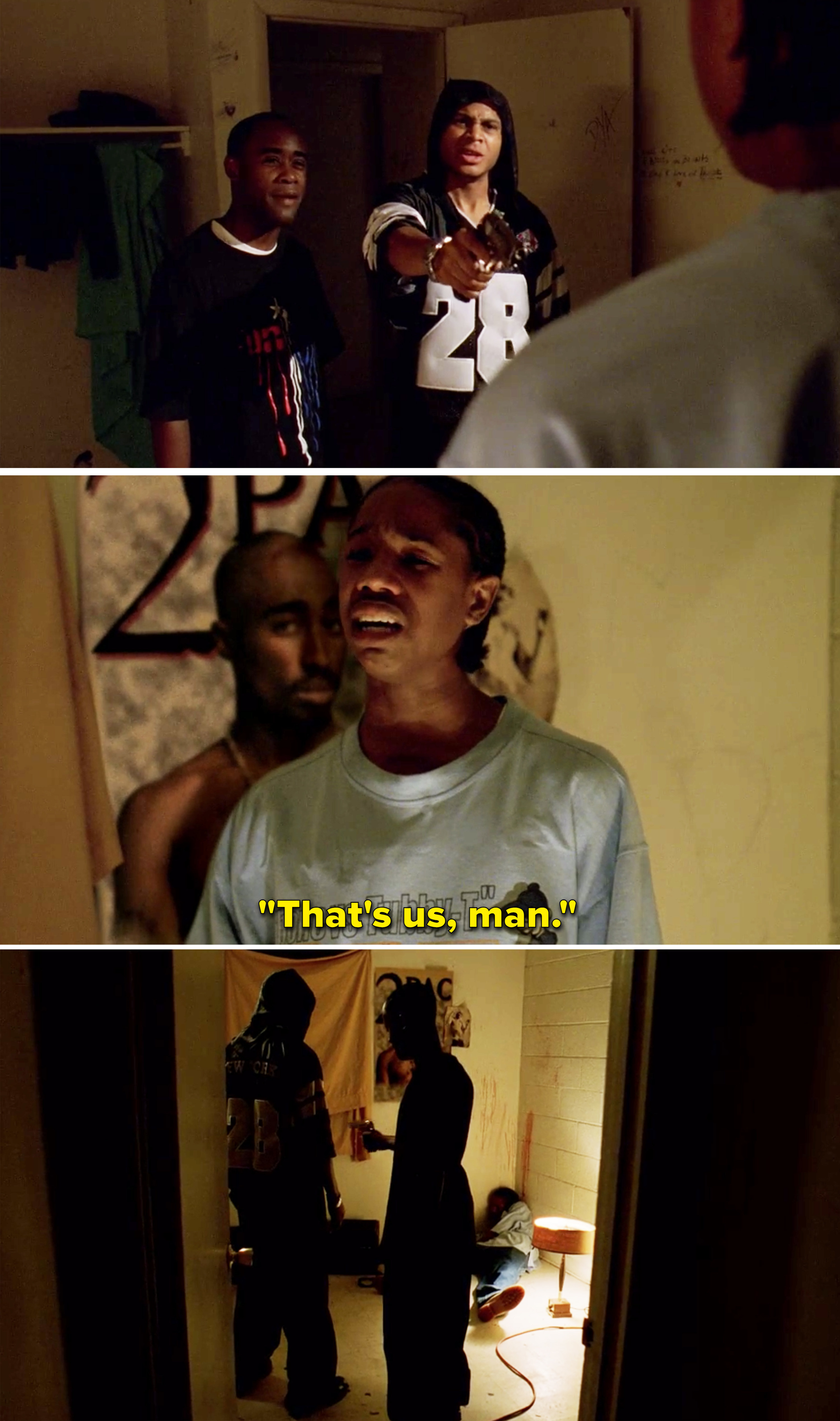 """Wallace saying, """"That's us, man"""" before being shot"""
