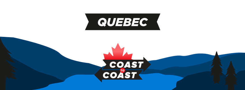 A coast to coast banner for Quebec