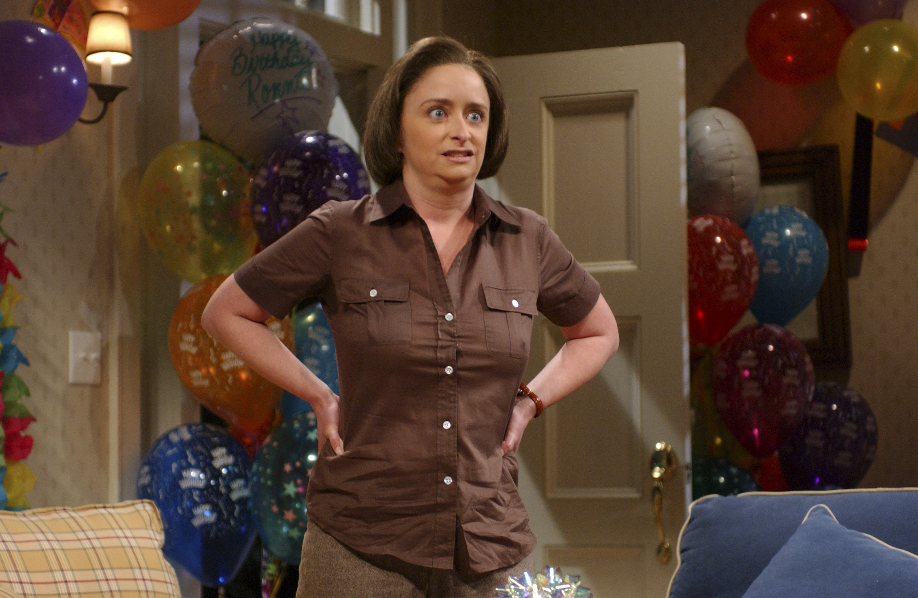Debbie Downer at a party making a face