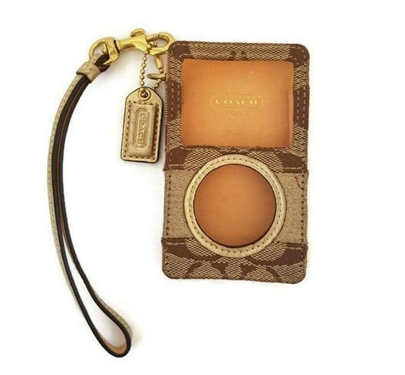 A Coach iPod case