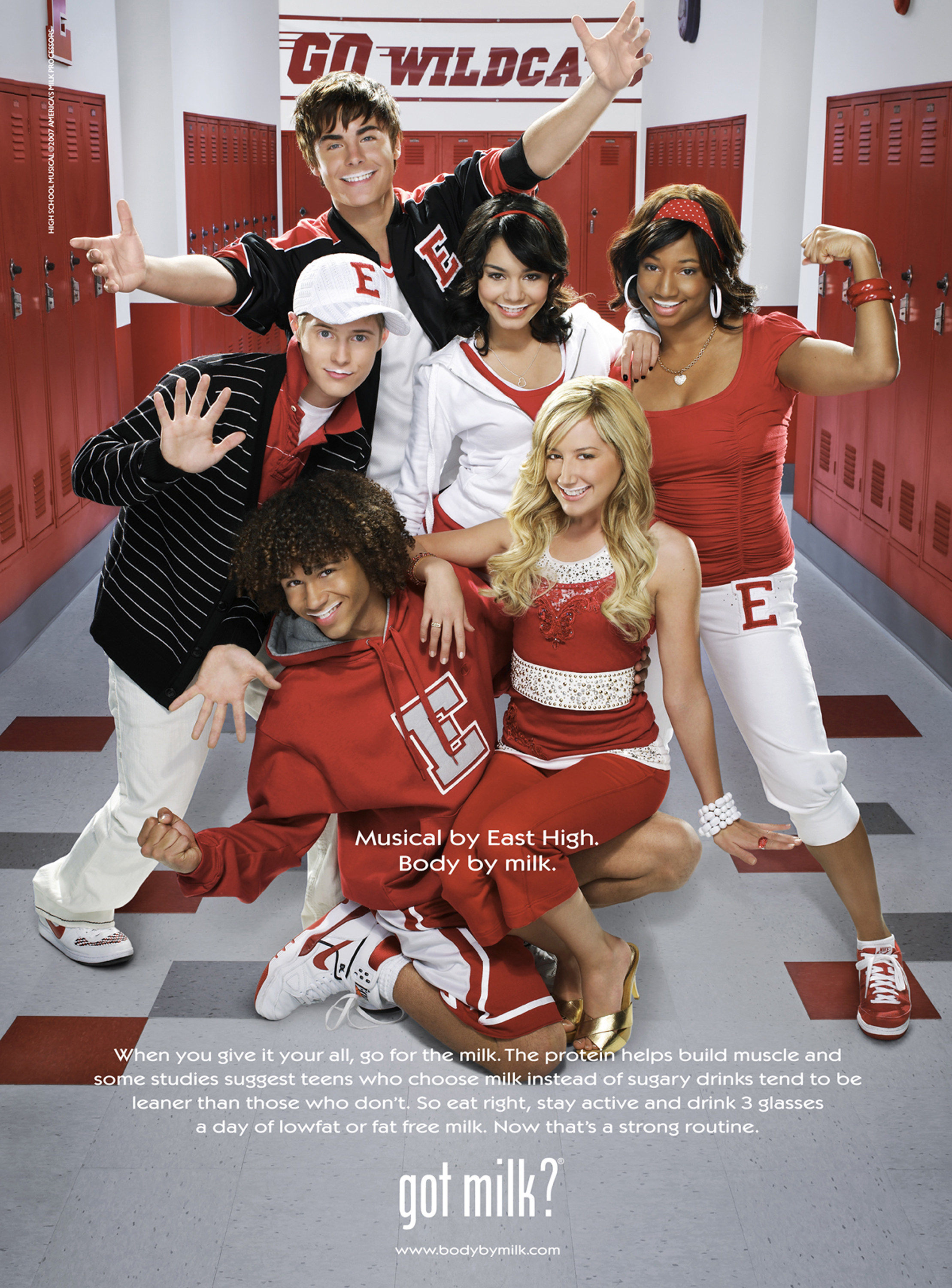 Got Milk? ad featuring the cast of High School Musical