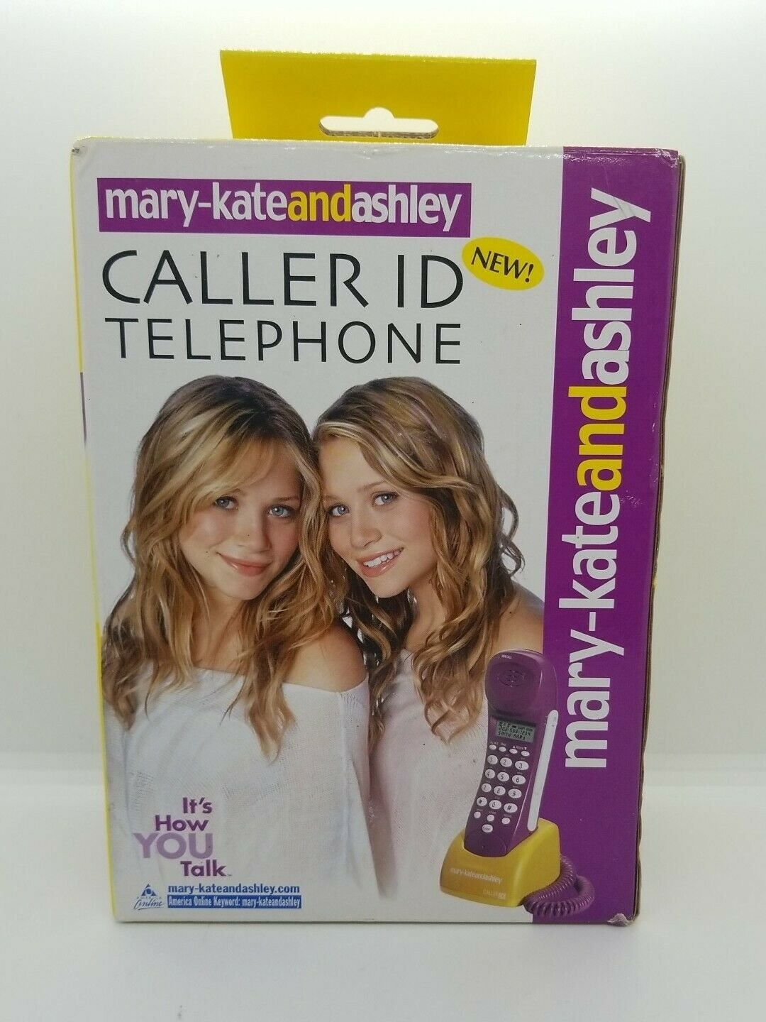 A box for Mary-Kate and Ashely brand caller-ID telephone