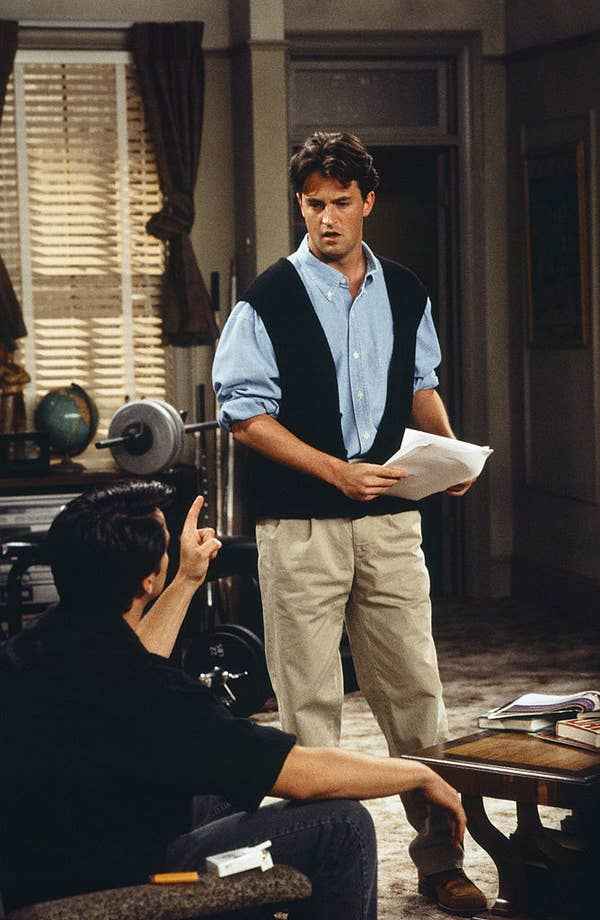 19. Chandler's outfits were mostly custom-made, and the 1940's heavily influenced his style.