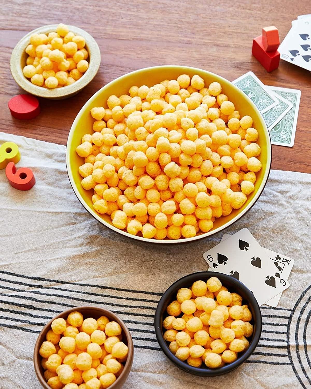 bowls of cheese balls