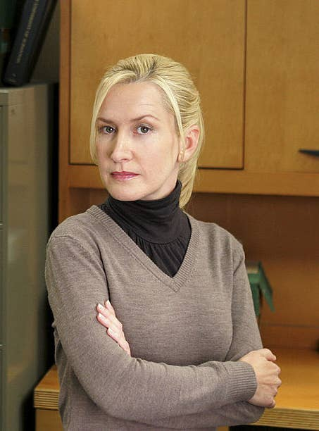 23. Angela's signature look was achieved by taking trendy clothes and putting them in the wrong combinations.