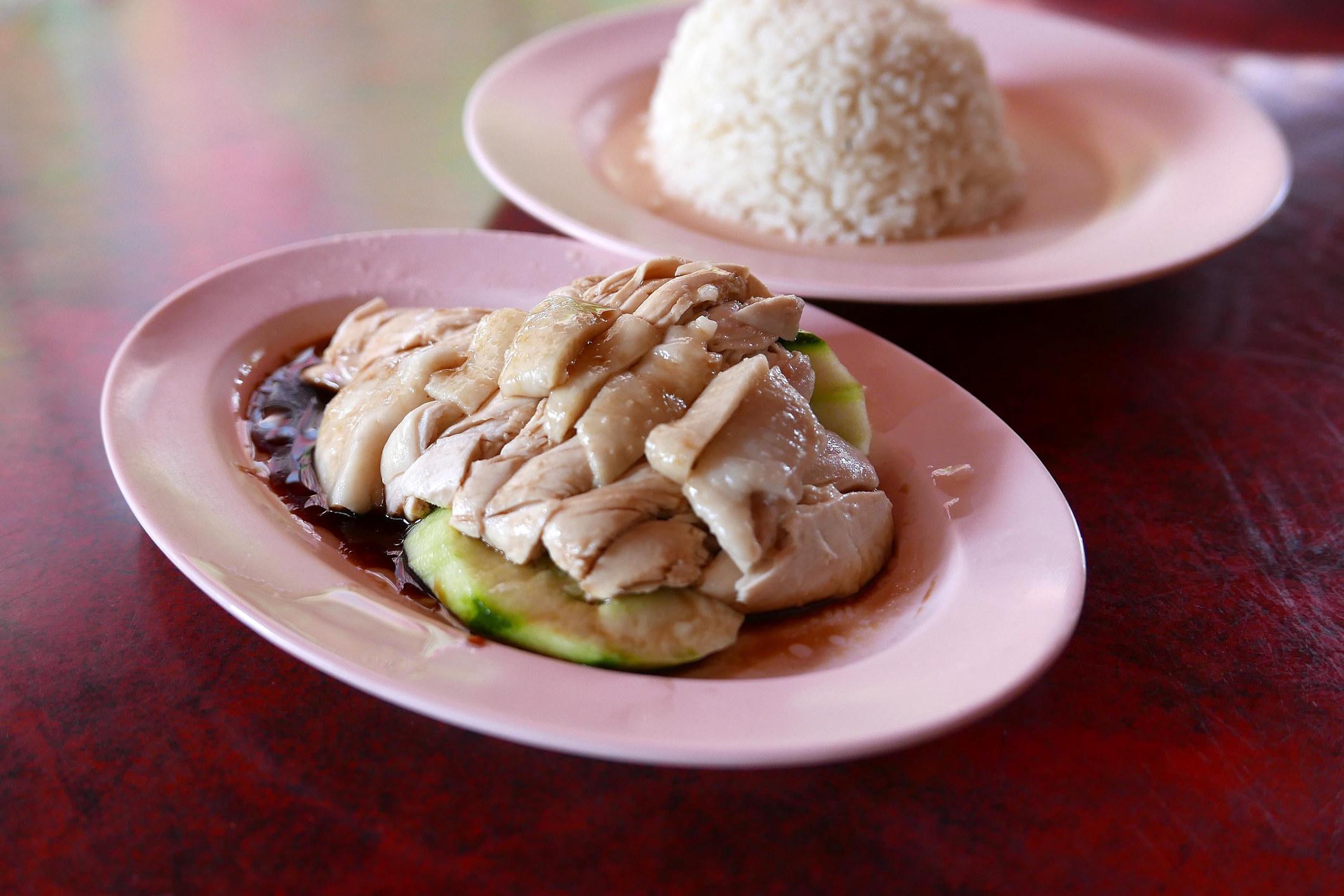 Singaporean chicken rice.