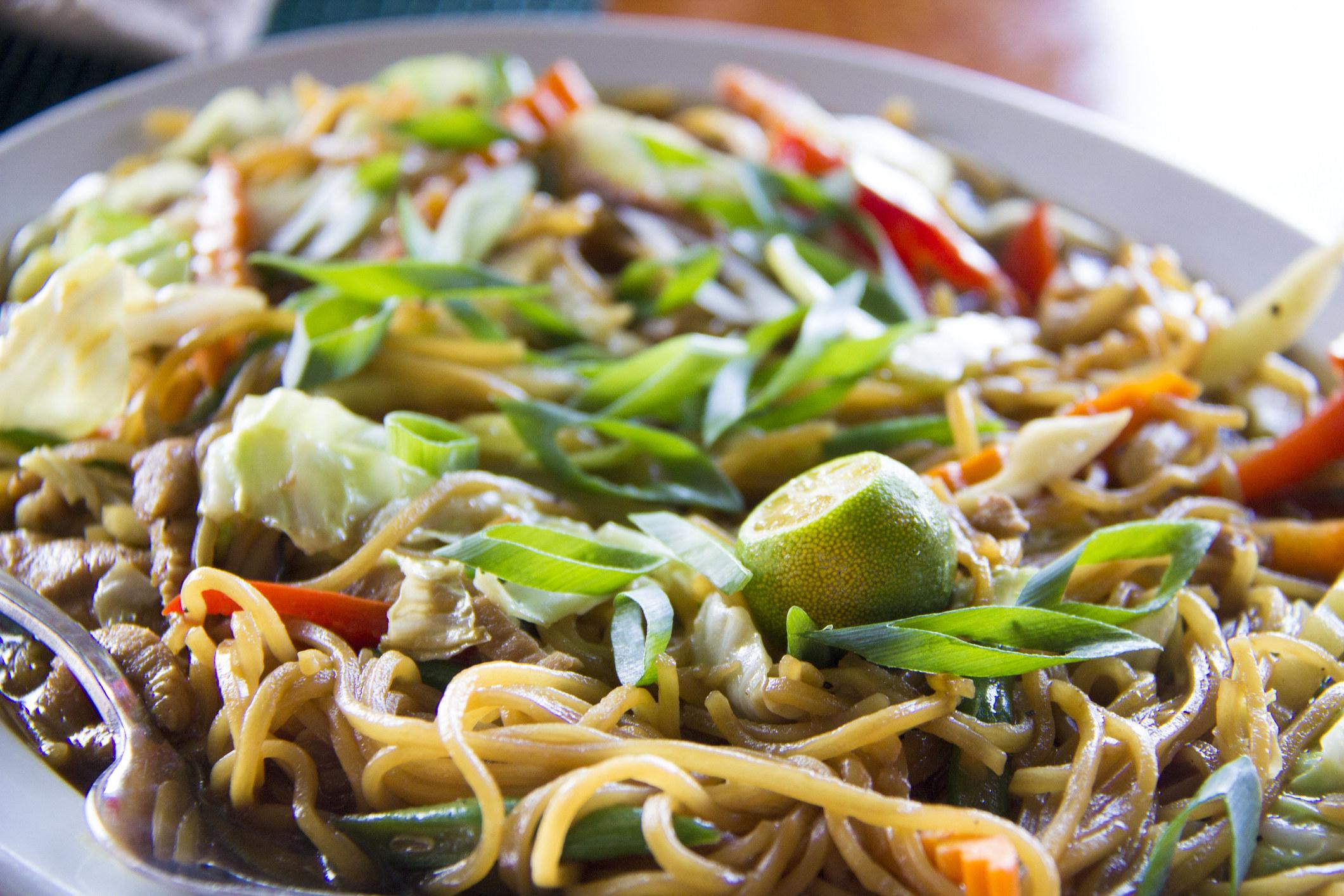 Filipino pancit aka stir fried noodles.