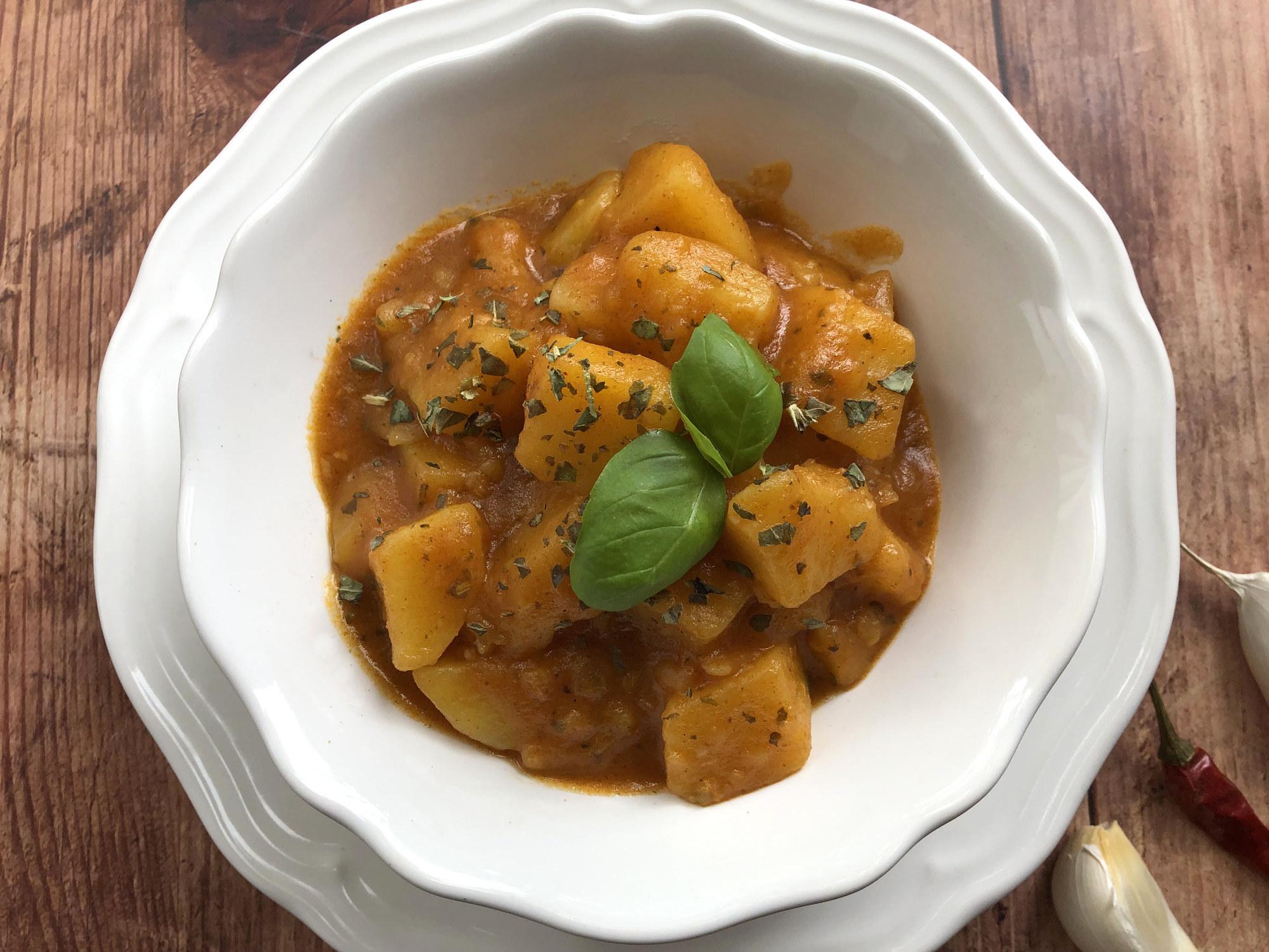 Hungarian Paprikás krumpli.