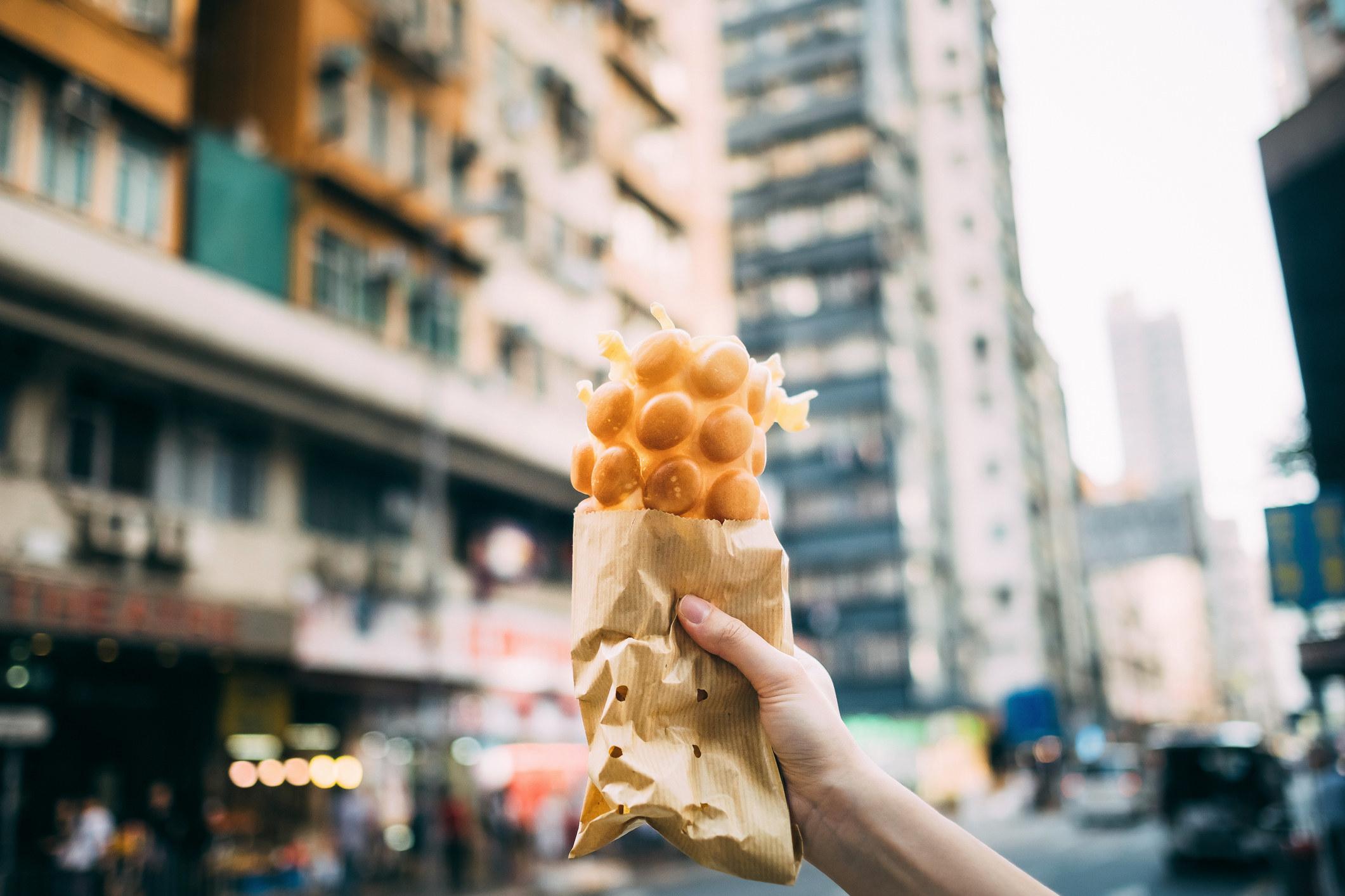 A Hong Kong style egg waffle.