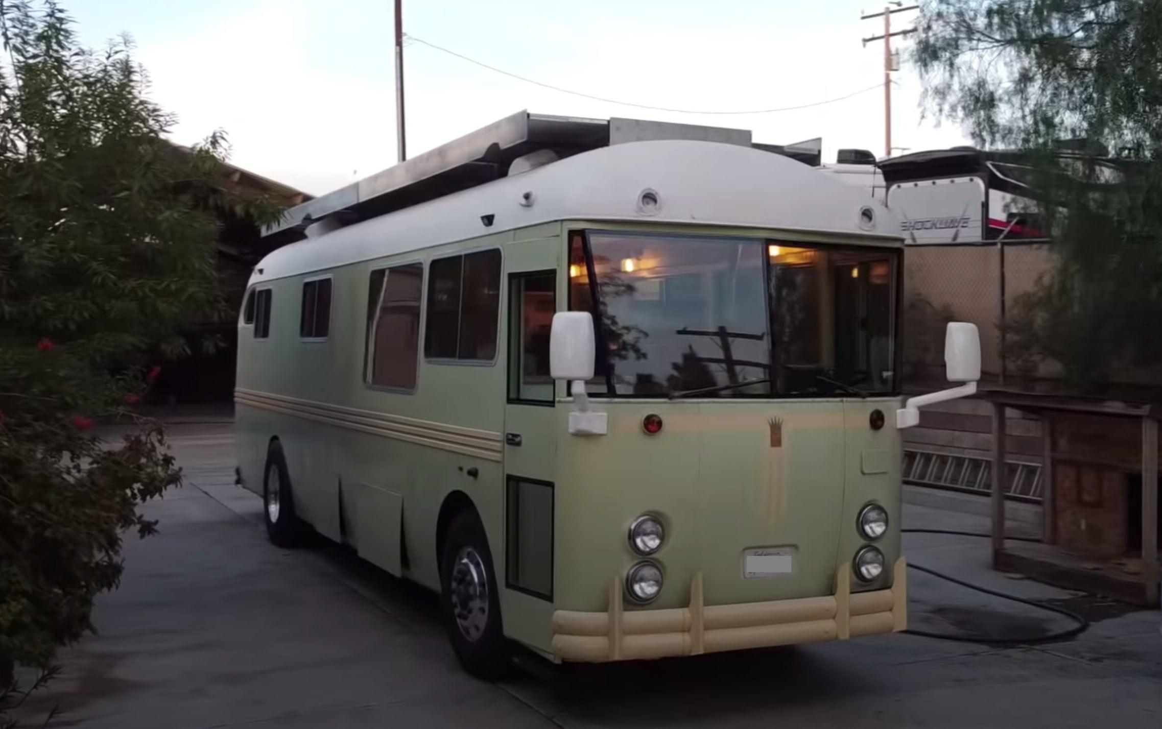 A retro bus