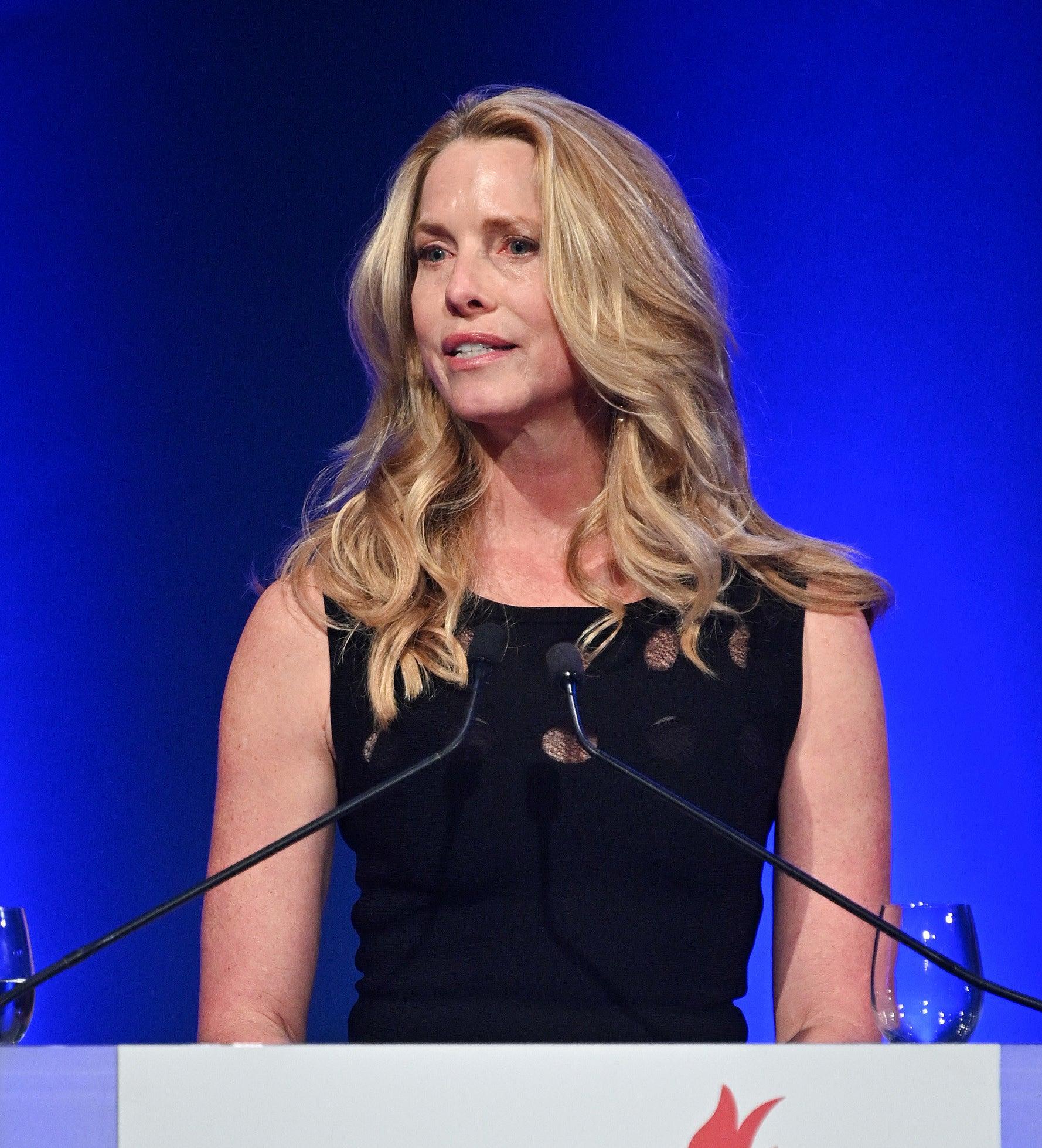 A woman giving speech