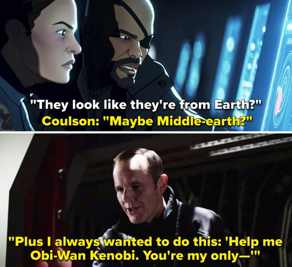 Coulson mentioning Middle-earth vs. Coulson mentioning Obi-Wan Kenobi