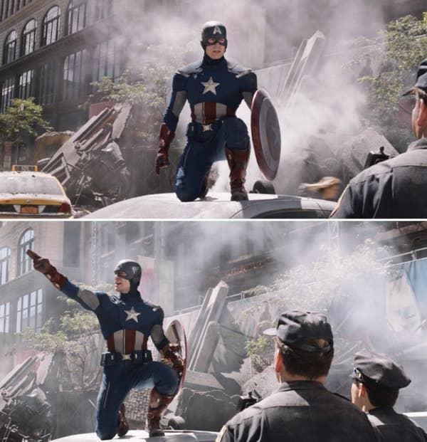 Stills from the Avengers