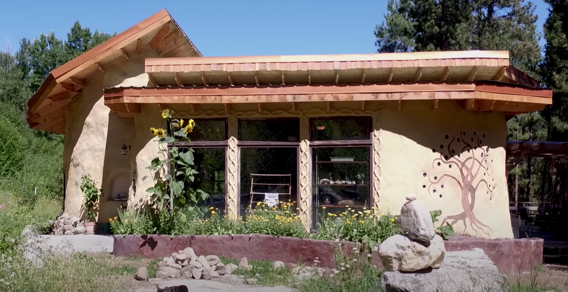 A beautiful, natural-looking home with lots of plants