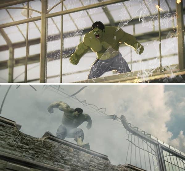 Stills of the Hulk