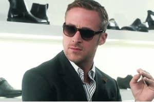 """Ryan Gosling making an """"ew"""" face"""