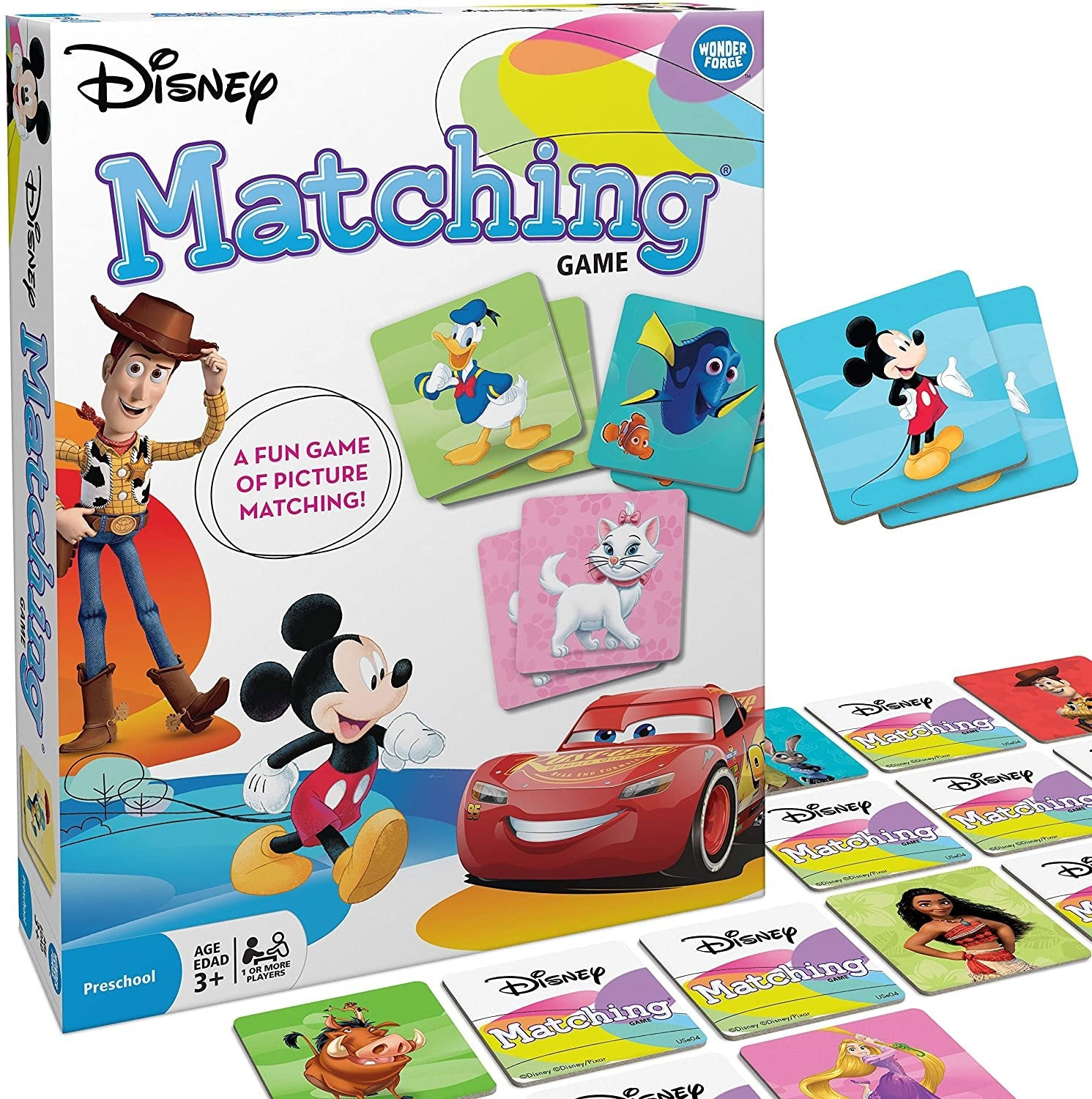 The disney classic characters matching game