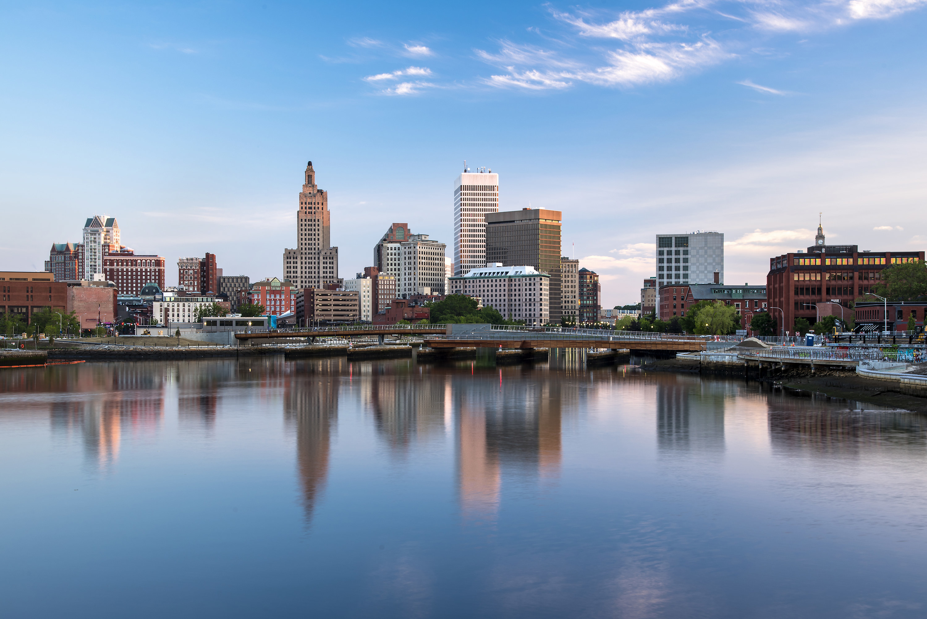 View looking toward Providence on the water
