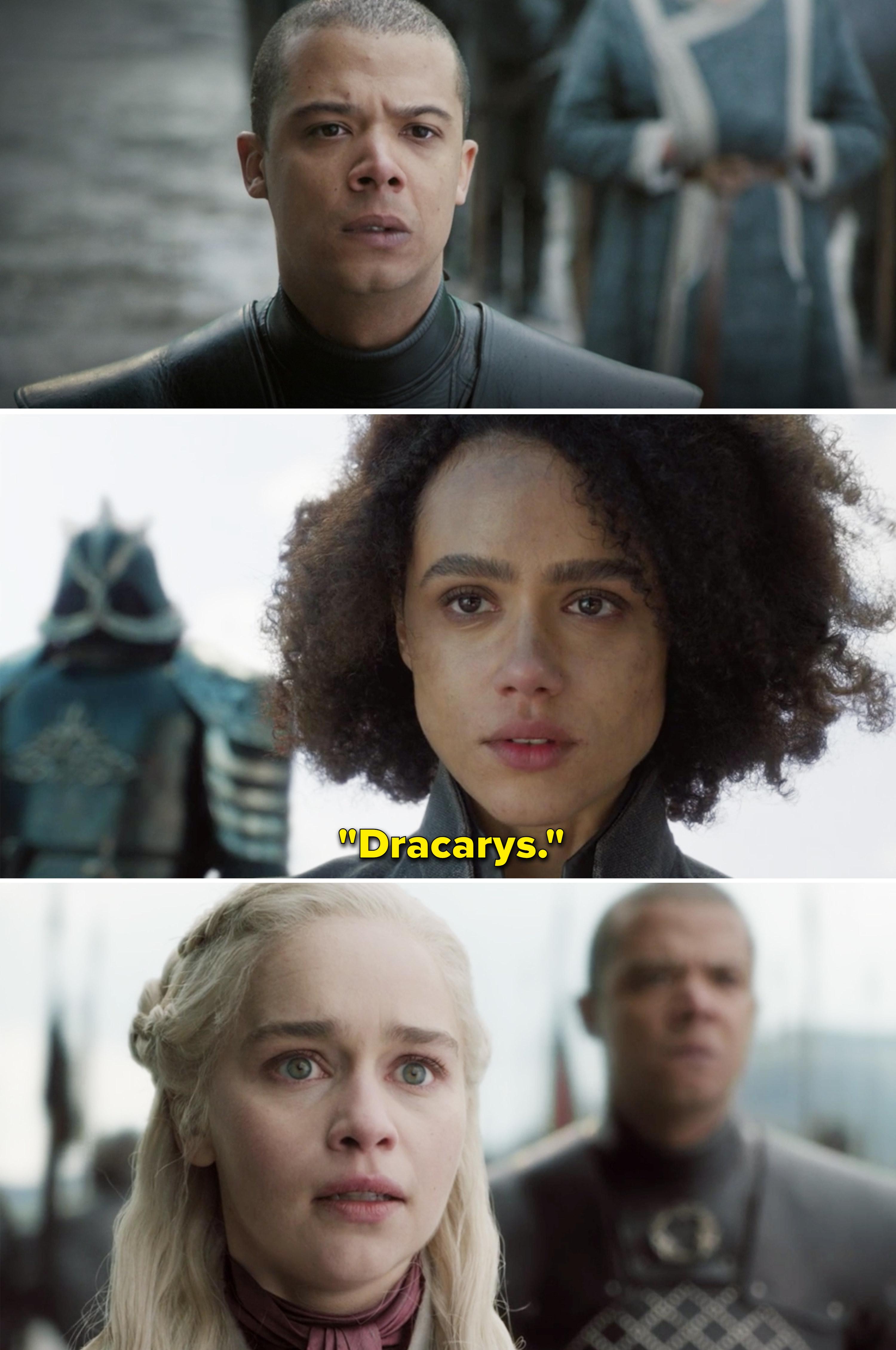 "Missandei saying, ""Dracarys"""