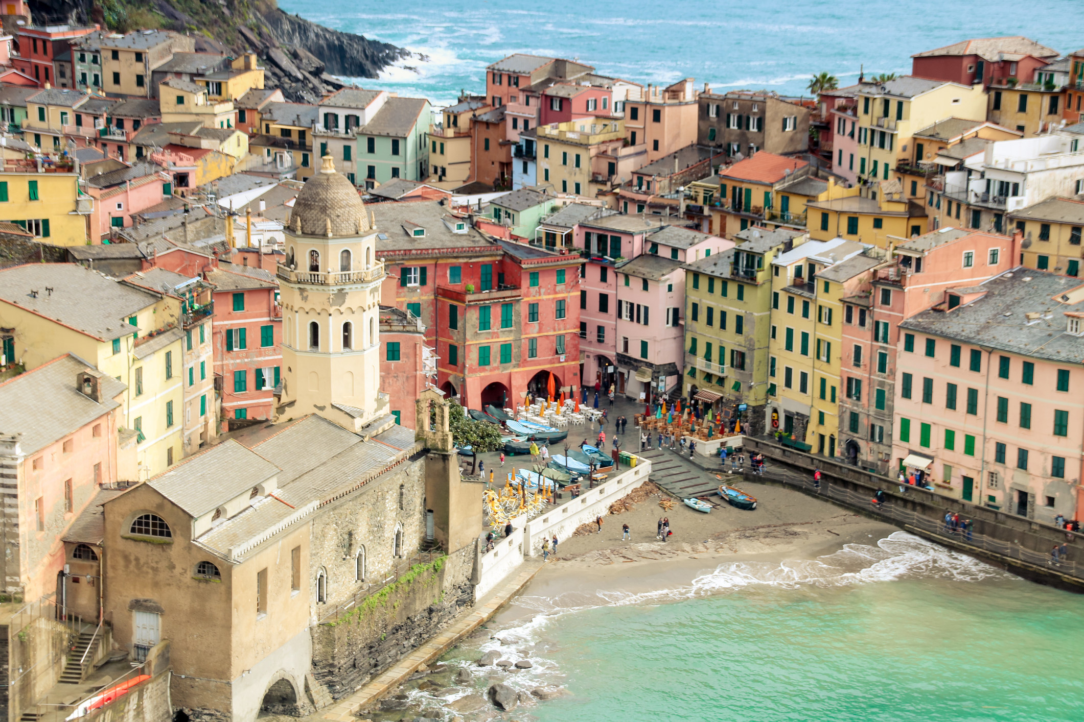 The town ofVernazza in Cinque Terre.