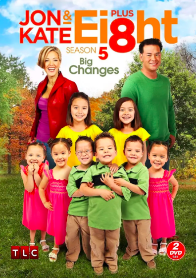 Promotional photo for a 2-set DVD of Jon and Kate plus Eight of the entire family