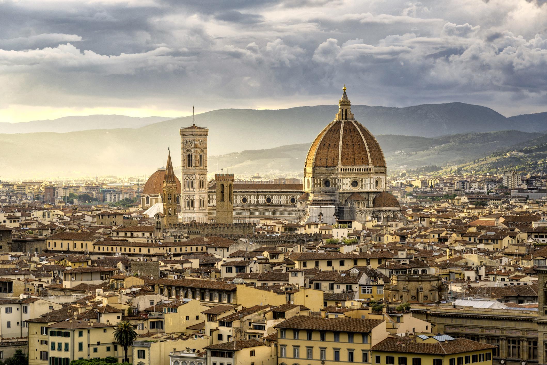 A cityscape view of the Santa Maria Nouvelle Duomo