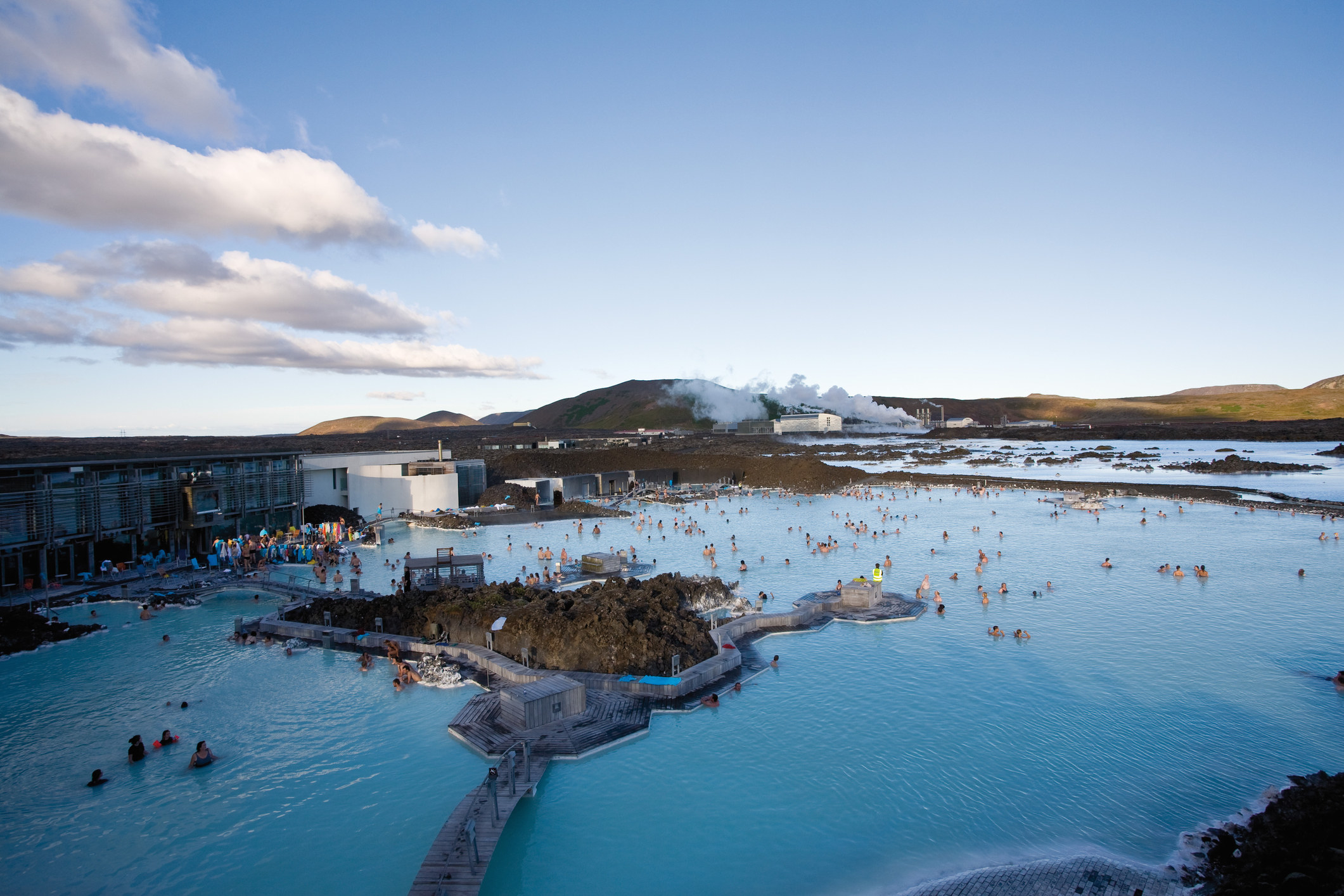 The Blue Lagoon outisde of Reykjavik.